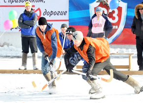 "Tournament ""ice hockey in felt boots"". tor engineering participation."
